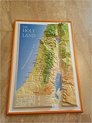 Raised Relief 3d Map Of The Holy Land Touch Israel 7290014166349