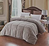 A Nice Night Lightweight Luxury Goose Down Alternative Comforter - Hypoallergenic - Solid (Queen, Grey)