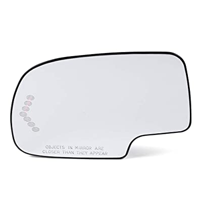 Heated Mirror Glass Turn Signal Without Auto Dimming Driver 1PCS Left Side For 2003 2004 2005 2006 Chevy Silverado/Avalanche/GMC Sierra/Cadillac Escalade/GMC Yukon: Automotive