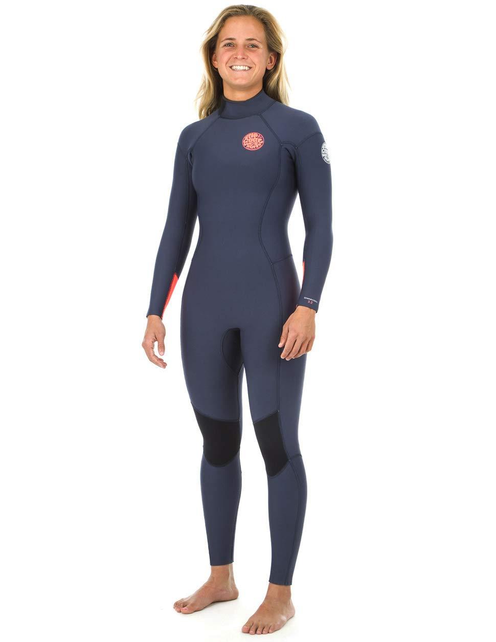 6d1567f224 Amazon.com  Rip Curl Dawn Patrol 4 3 mm Back Zip Wetsuit - Women s - Navy   Sports   Outdoors