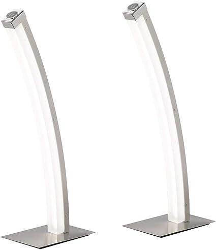 Nickel matt Tischleuchte 3-stufen Touchdimmer Action by Wofi