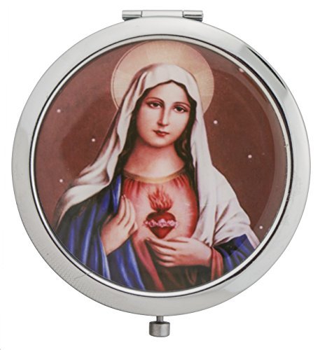 Catholic Pocketbook Mirror (Immaculate Heart of Mary) by Jeweled Cross
