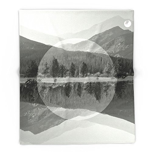 Society6 Mountain Mirror BW 88'' x 104'' Blanket by Society6
