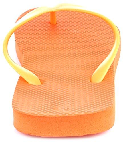 ... Enimay Kvinners Uformelle Klassisk Sommer Strand Basseng Ferie Flip  Flop Sandaler Oransje