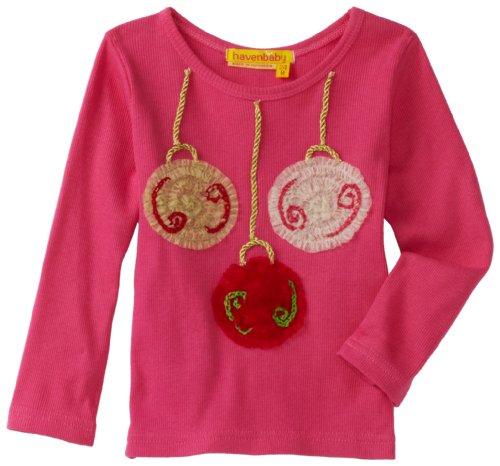 Baby Girls' Long Sleeve Ornament Soutache Tee