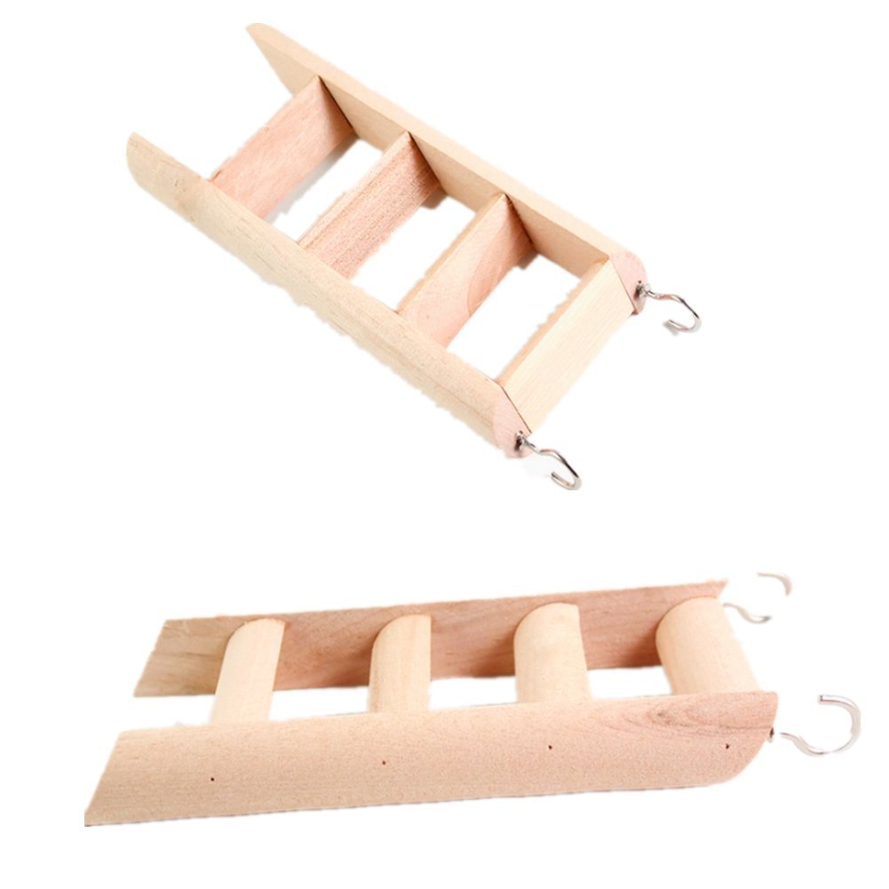 Fully 2x Wooden Playground Ladder Stepladder Toy for Mouse Hamster Mice Chinchilla Small Animal