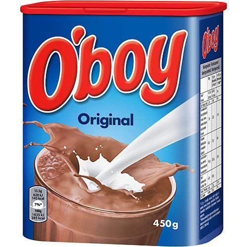 - O'boy Chocolate Drink Mix 450g (15.8oz) (1 Pack)