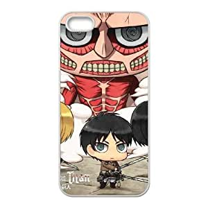 iPhone 5 5s Cell Phone Case White Attack On Titan Clouds BNY_6810060