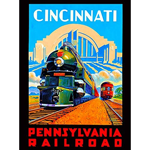 Vintage train travel posters for Vintage train posters
