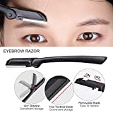4 PCS Eyebrow Kit - Eyebrow Razor, Eyebrow Scissor, Eyebrow Tweezer, Eyebrow Brush, Eyebrow Grooming Set for Women and Men