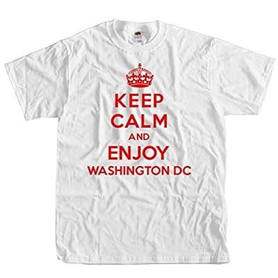 ShirtScope Keep Calm and Enjoy Washington DC T shirt Funny Tee