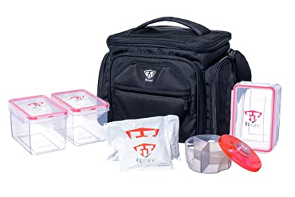 Amazon.com: Fitmark Shield bolsa aislada para comida con ...