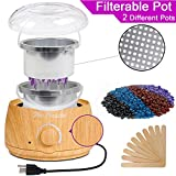 Wax Warmer Electrict Hair Removal Waxing Kit Filterable Wood Grain Rapid Melt Wax Heater With 4 Flavors Hard Wax Beans 10 Wax Applicator Sticks Women Men Home Waxing Spa for Face Arm Bikini Legs For Sale