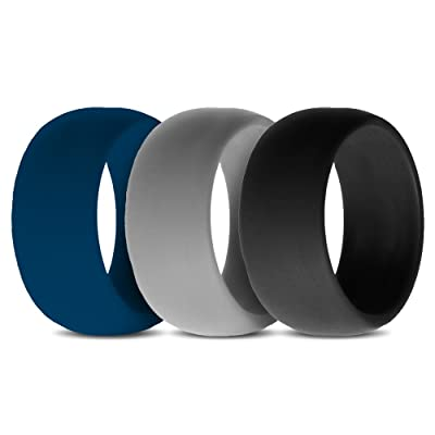 Mens Silicone Wedding Band | Silicone Wedding Rings 3 Ring Pack Men S Silicone Wedding Ring