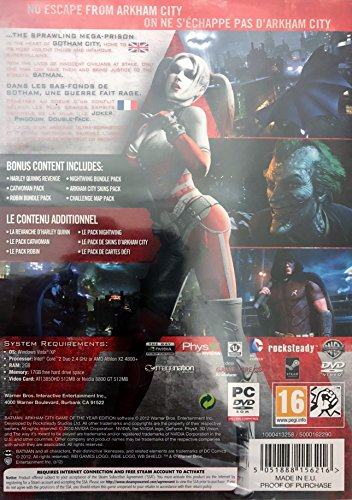 Batman: Arkham City Game of the Year Edition (UK Import)