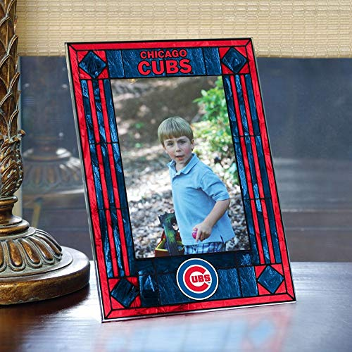 Chicago Cubs Art Glass Frame