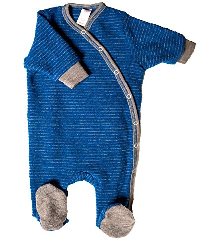 12e45ceee Engel Organic Merino Wool Baby Sleepsuit / Pyjamas with Feet, Color Blue,  Age 3-6 Months: Amazon.co.uk: Clothing