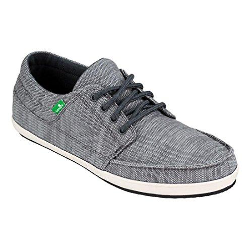 Uomo Di Sanuk Che Annata Slub Sneaker Carbone