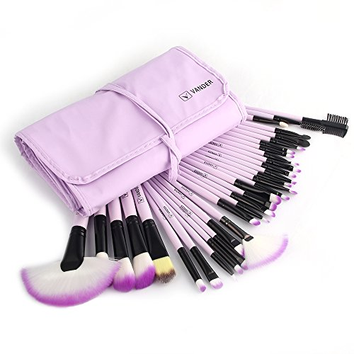 - Vander 32pc Purple Professional MakeUp Brushes Set Foundation Face Cosmetic Tool