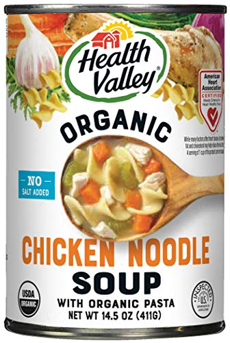 Health Valley Organic No Salt Added Soup, Chicken Noodle, 14.5 Ounce (Pack of...