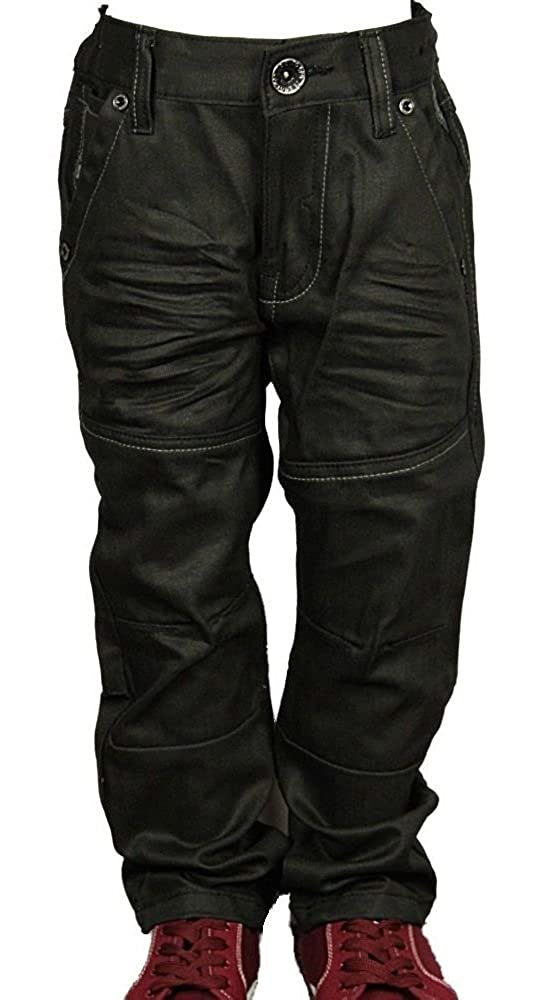 Enzo Brand New Babies Boys EZBB329 Brand In Black Coated Jeans 2-10 Years