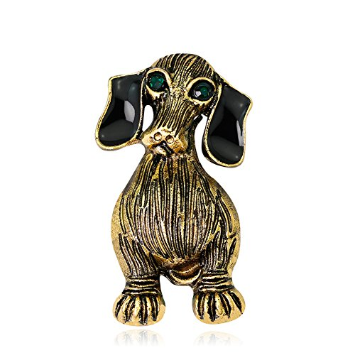 eroute66 Vintage Unisex Dog Brooch Pin Party Jewelry Mini Scarf Shirt Suit Bag Gifts