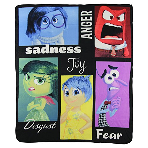 Inside Out Kids Character Lightweight Fleece Throw Blanket