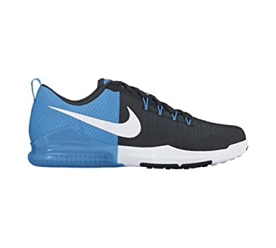 Nike Men's Zoom Train Action Cross Trainer Black/White/Blue Glow/White