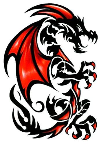 Tribal Black Dragon Temporary Tattoos