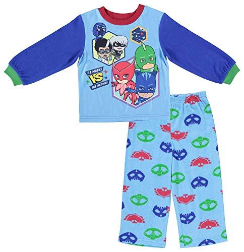 Entertainment One Boys PJ Masks Pajamas - 2-Piece Long Sleeve Pajama Set (Light Blue, 3T)