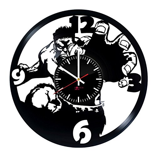 Oversized Wall Clock Made From Used Vinyl Record - Get unique bedroom or living room wall decor - Gift ideas for his and her - Comics Legend Unique Modern Art Design