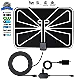 [2019 Newest] HDTV Antenna,160 Mile Range Indoor/Outdoor TV Antenna HD with Omni-Directional 360 Degree Reception for FM/VHF/UHF