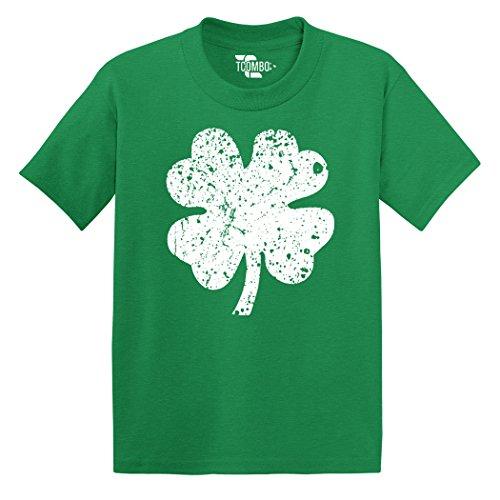 Tcombo Distressed Irish Shamrock - Clover - St Patricks Day Gift - Toddler Little Boy/Infant T-shirt (5T, Kelly Green)