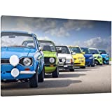 Ford Cars RS Range 30x20 Inch Canvas Escort & Focus Framed Picture Print