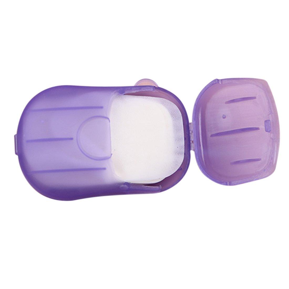 20piezas portátil papel jabón jabón hojas–Color al azar Hisuper-Store