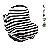 TEKCAM Multi-use Infinity Stretchy Nursing Scarf - Nursing Breastfeeding Cover Scarf/Baby Car Seat Canopy/Stroller Cover/High Chair Cover/Shopping Cart Cover