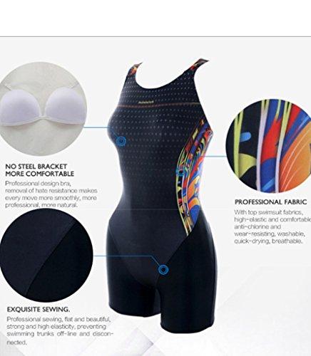 PHINIKISS PH10002 Mao Damen Sport Badeanzug Schwimmanzug mit Bein ...
