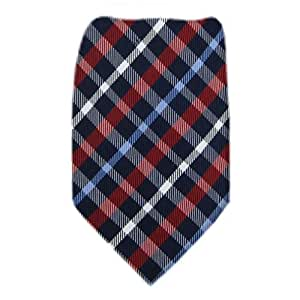 Extra Long Silk Necktie Purple - Sky - Midnight Navy