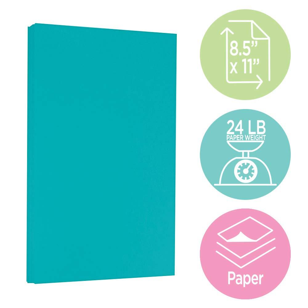100 Hojas//Paquete 90gsm 215,9 x 279,4 mm Naranja Reciclada JAM PAPER Papel de Color Brillante