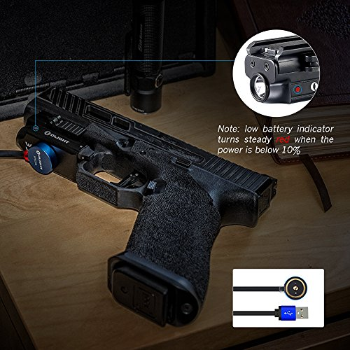 OLIGHT PL-Mini Valkyrie 400 Lumens Rechargeable Pistol Light with Cree LED and Magnetic USB Charger, Bundle GrapheneFast Battery Case by OLIGHT (Image #3)
