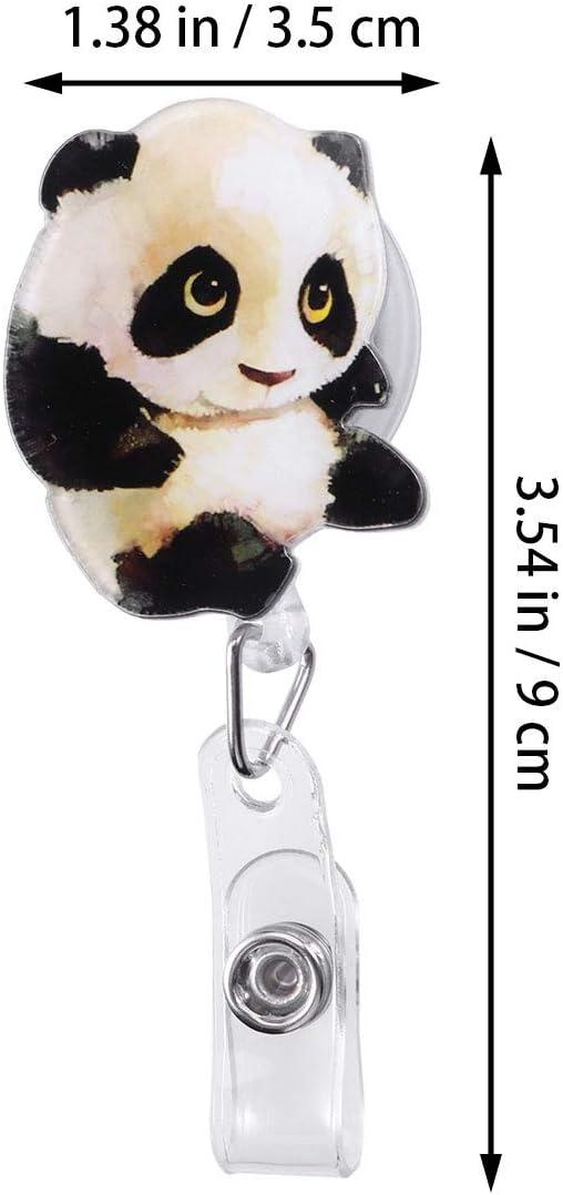 Yeahibaby Ausweishalter Ausziehbar Panda Form Für Krankenschwester Ärzte Lehrer Bürobedarf Schreibwaren