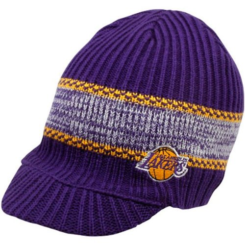 - Los Angeles Lakers Visor Knit Beanie Hat Cap Adidas Team Colors NBA Authentic & NEW