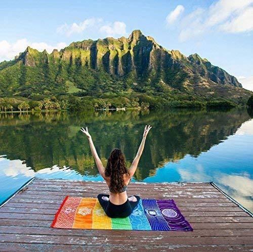 HAPPYX Estera de Yoga Toalla de Algodón Manta de Playa de ...