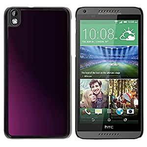 FECELL CITY // Duro Aluminio Pegatina PC Caso decorativo Funda Carcasa de Protección para HTC DESIRE 816 // Clean Minimalist Purple Black Shadow