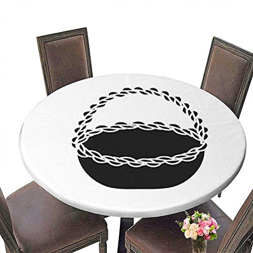 100% Polyester Luxury Round Tablecloth,Contour Beautiful Hamper to Save Food Celebration Resistant and Waterproof Tablecloths up to 39.5