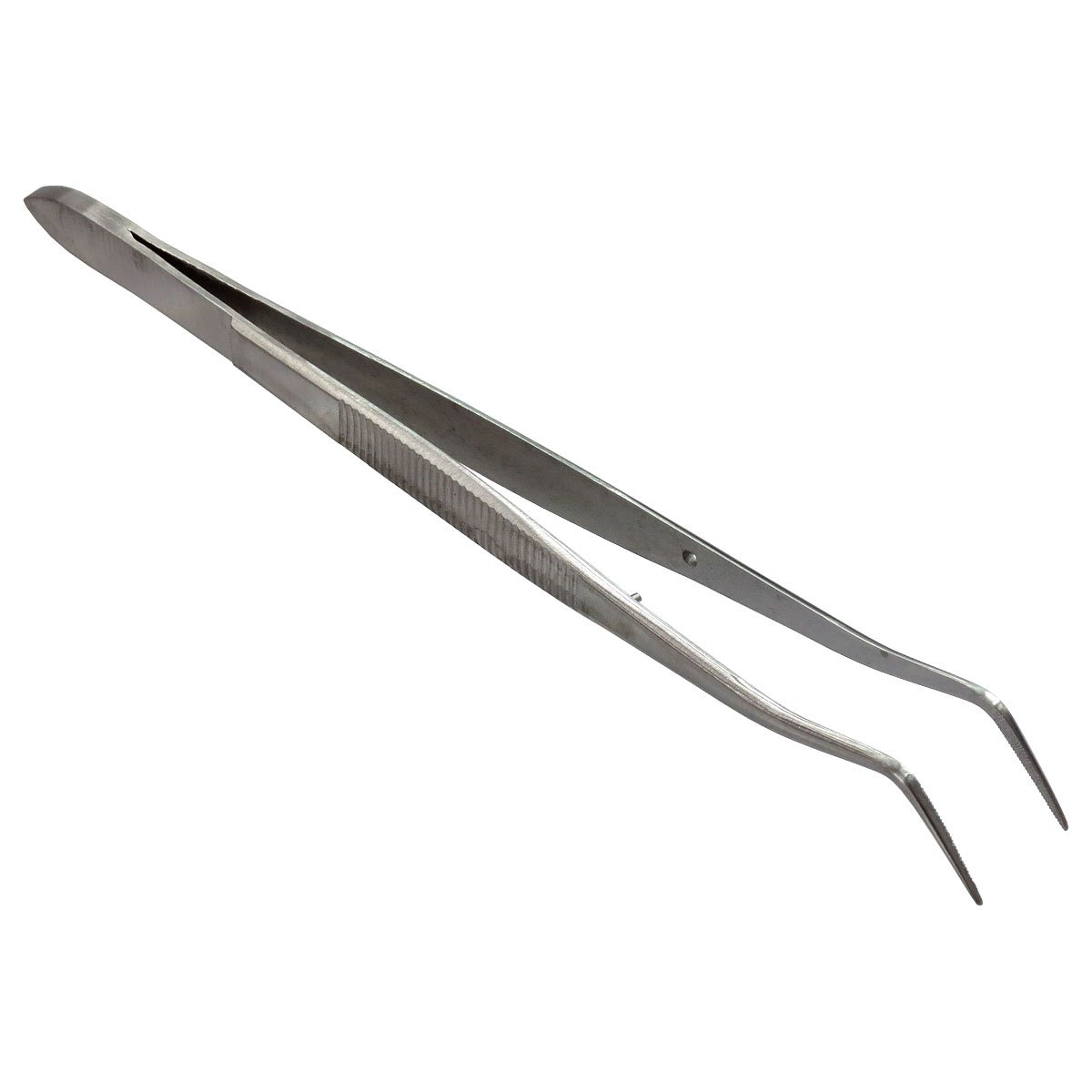 HTS 171L6 6.25' Curved Locking Stainless Steel College Tweezers Hobby Tool Supply