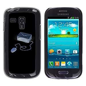 TopCaseStore / la caja del caucho duro de la cubierta de protección de la piel - Funny Computer Emails - Samsung Galaxy S3 MINI NOT REGULAR! I8190 I8190N