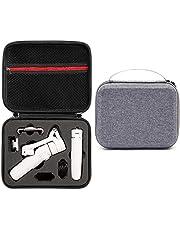 Honbobo Opbergtas voor DJI OM 5, Draagtas Beschermende Handtas Accessoires voor DJI OSMO Mobile5 Gimbal Stablizer (Grijze shell en zwarte liner)