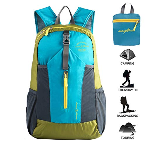 Lucien Hanna Lightweight Packable Hiking Backpack for Women Men Outdoor Travel Waterproof Small Daypack 20L