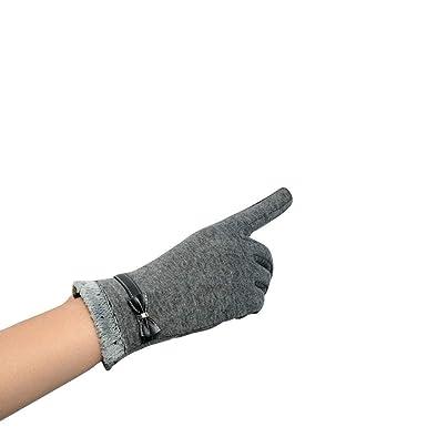 Pantalla De Reloj Para Mujer Guantes De Acogedor Muñeca Cálidos De Invierno Esp: Amazon.es: Ropa y accesorios